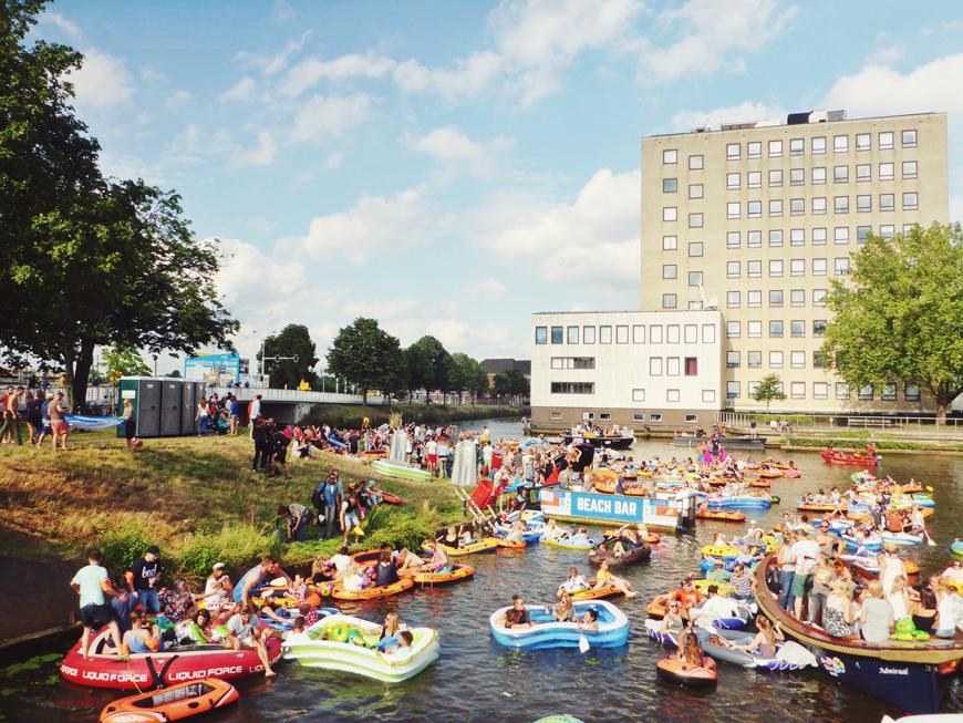 Breda Drijft in Breda, Bootje varen bij Breda Drijft, Breda Drijft, Festival Breda, Festival Breda Drijft,