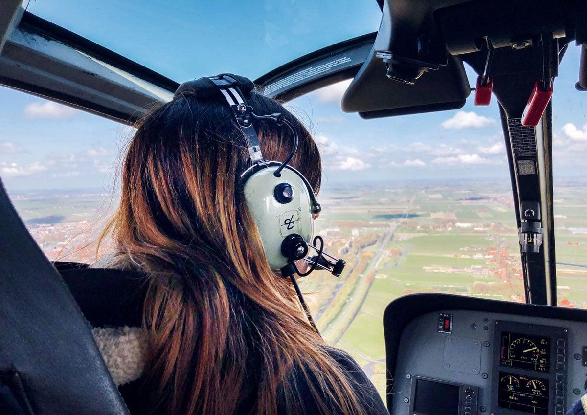 Helikopter vliegen Nederland