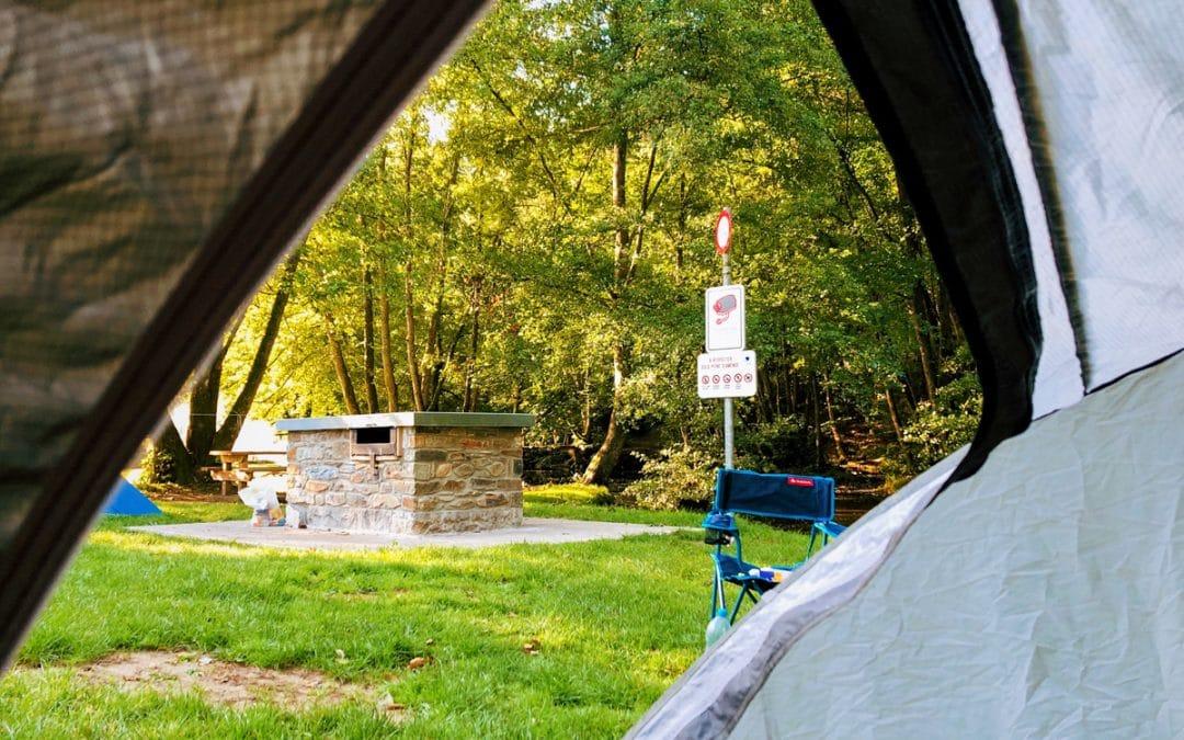Kamperen op de prachtige Bivakzone Lesse in de Ardennen