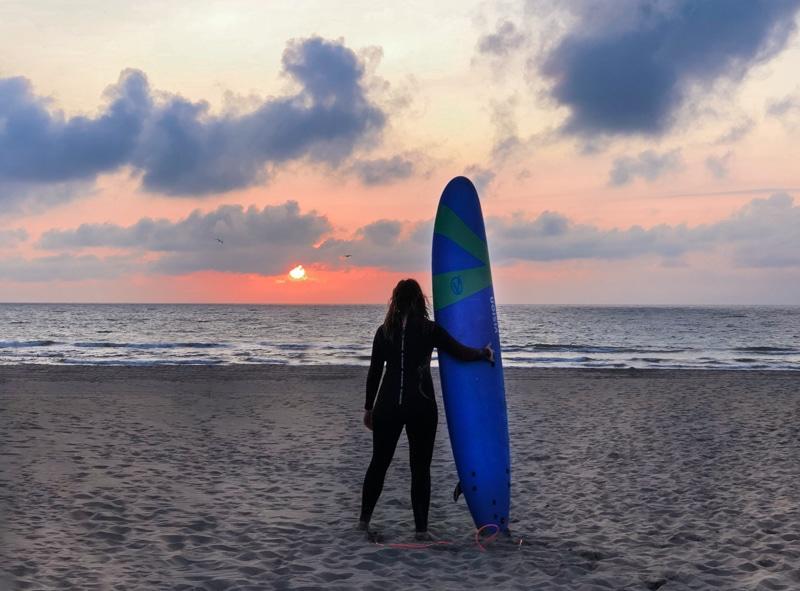 Eerste keer surfen in Nederland | zo ging het
