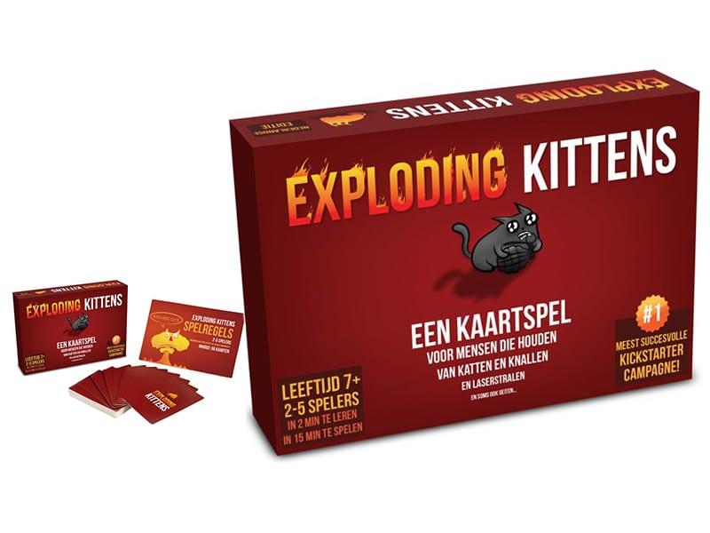 Reisspellen voor op reis, reisspel Exploding Kittens