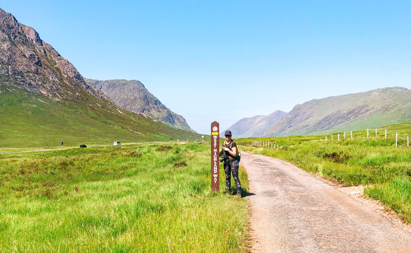 Weg naar de Devil's Staircase op de West Highland Way