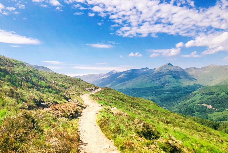Wandelen van de West Highland Way, West Highland Way, West Highland Way wandelen, hiken West Highland Way, West Highland Way Schotland, Glencou mountain resort, West Highland Way Kinglochleven,