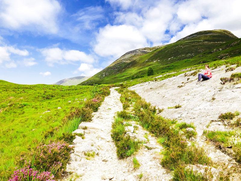 Uitzicht over de highlands op de West Highland Way