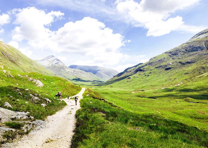 Wandelen door de Highlands van Schotland