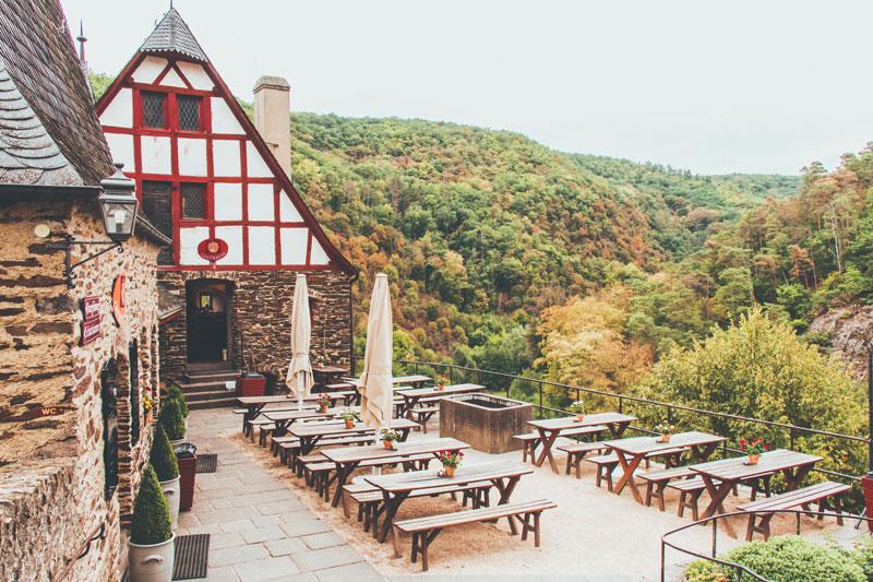 Eten bij Burg Eltz