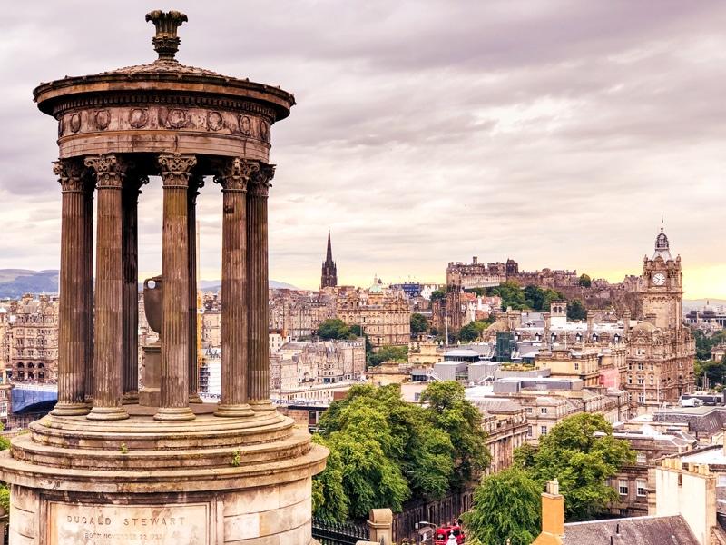 Uitzicht vanaf Calton Hill in Edinburgh