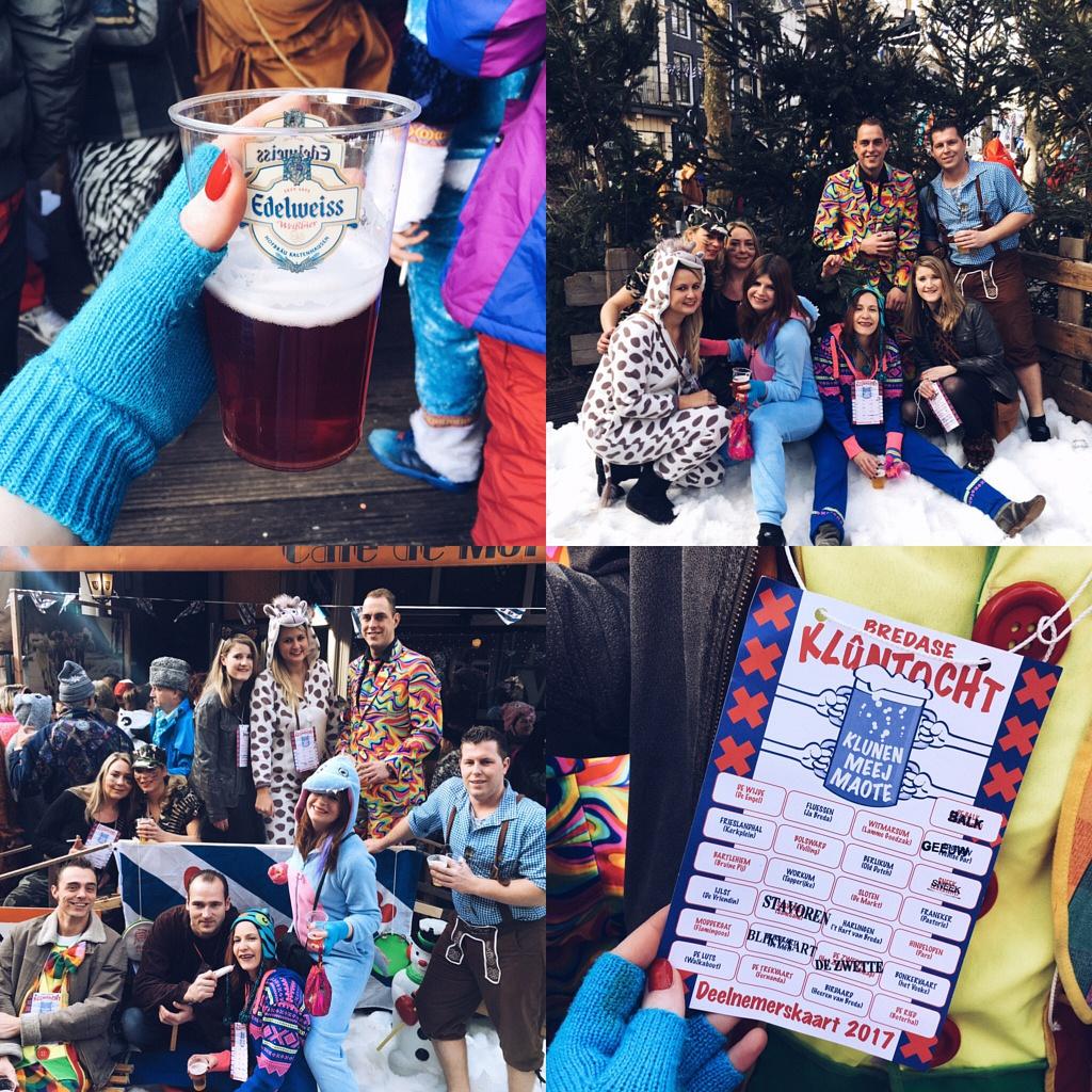 Klunen breda, klunen, breda, pre carnaval, carnaval, feesten met vrienden, rose bier, kluntocht, bredase kluntocht,