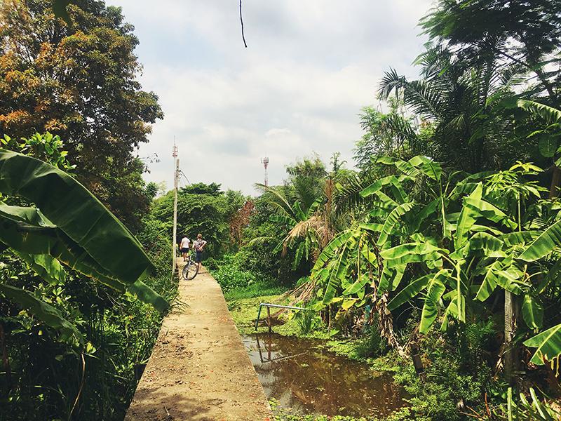 Buitenwijken van Bangkok, Co van Kessel, Fietsen in Bangkok