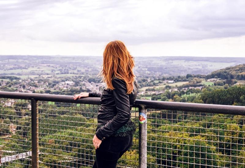 Uitzicht vanaf de Boudewijntoren bij het Drielandenpunt