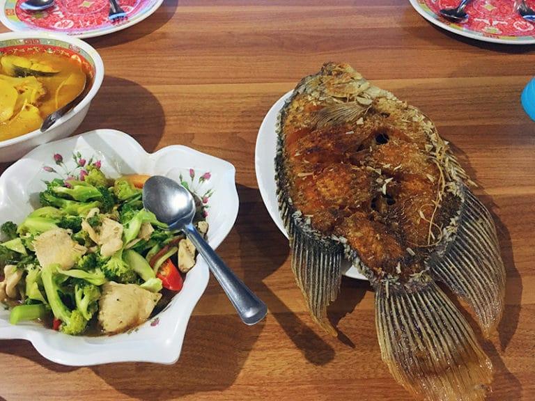 Vis eten in Khao Sok National Park