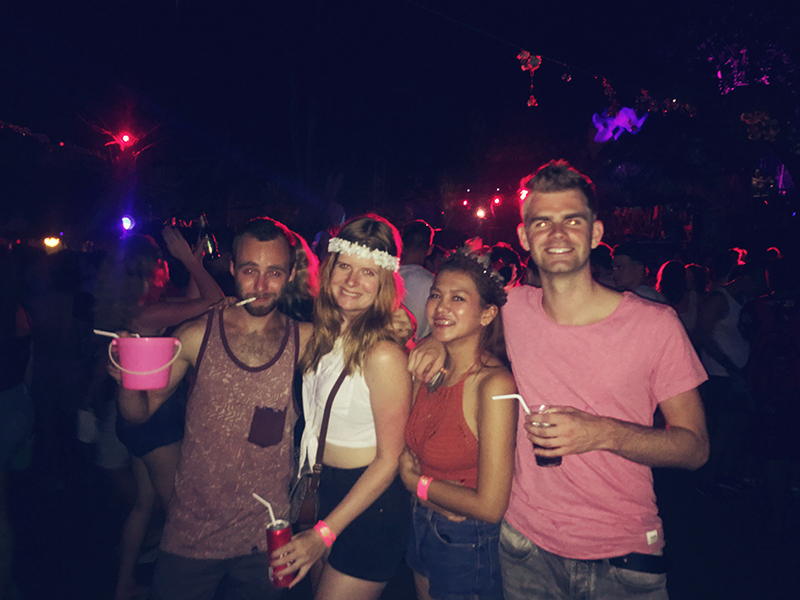 Jungle party op Koh Phangan