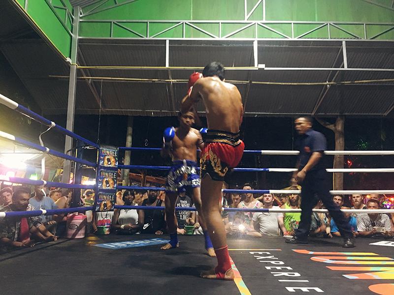 Mu Thai wedstrijd