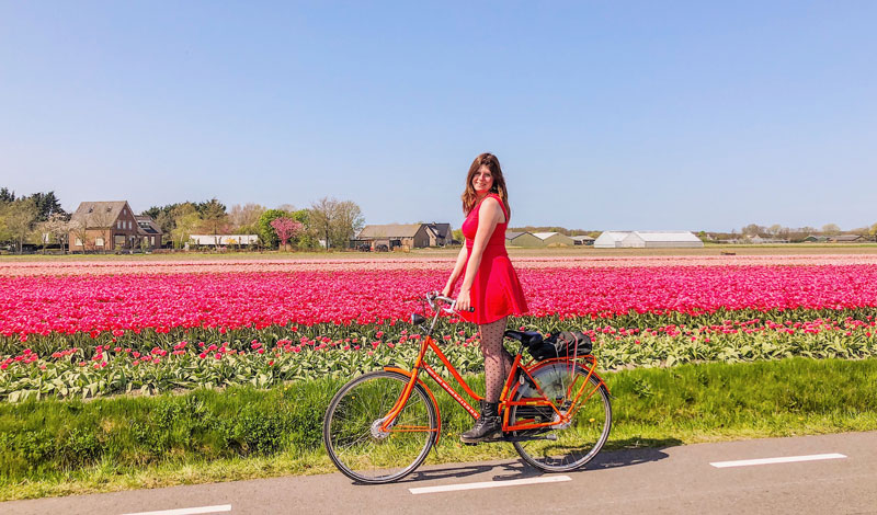 Fietsen door de bollenstreek, bollenstreek, bollenstreek fietsen, oranje boven, koningsdag, foto's in oranje,