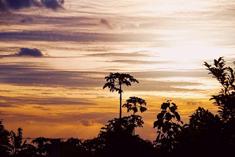 Zonsondergang in Khao Yai National Park