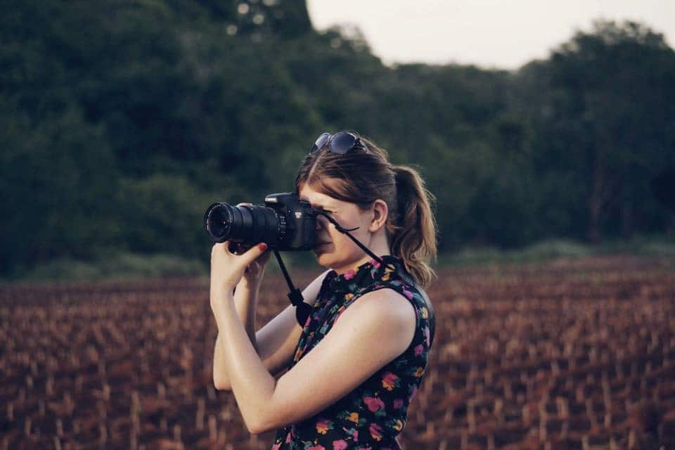 Diana van Stripe Away aan het fotograferen