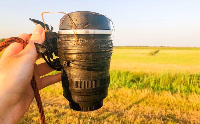 Een Geocache gevonden waar elke fotograaf blij van word
