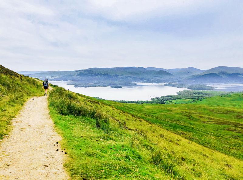 Het beklimmen van Conic Hill