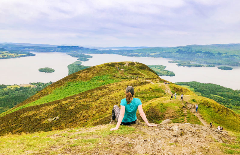 Conic Hill: the best view over the Loch Lomond