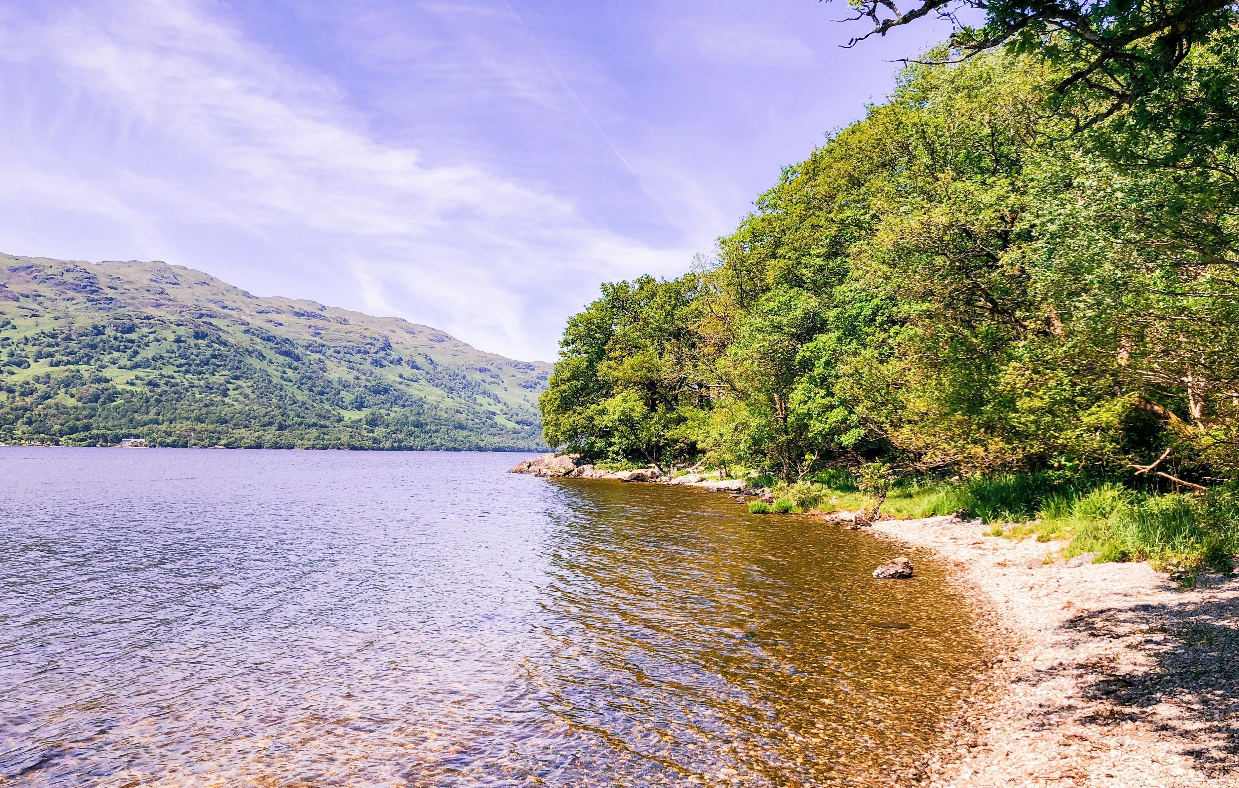 Hiken langs de Loch Lomond