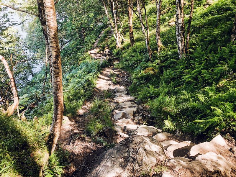 West Highland Way langs de Loch Lomond