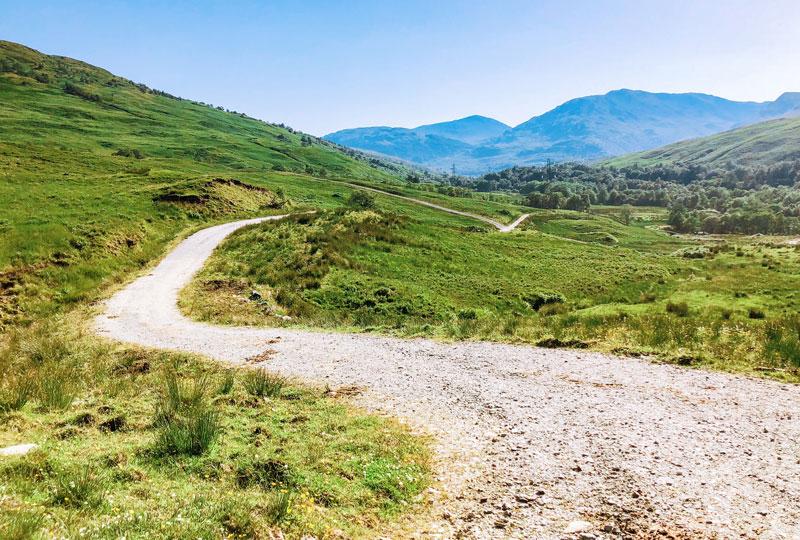 Wandelen in Schotland met 38 graden