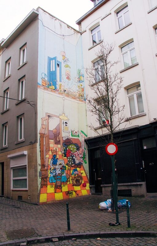 Striproute Brussel, striproute, strip figuren, strip figuren brussel, street art, straat art brussel, street art belgie, street art belgium, striproute lopen, striproute brussel lopen, wandelen, citytrip, citytrip brussel,