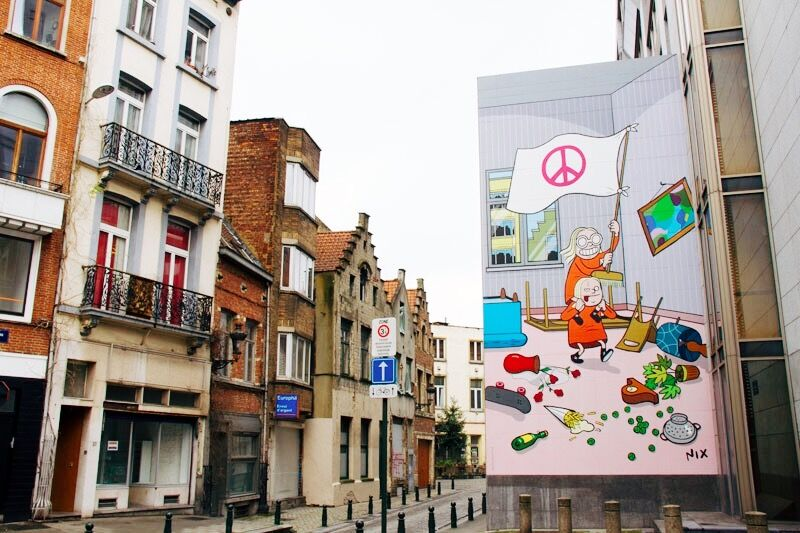 Street Art | Striproute (stripfiguren) Brussel in België