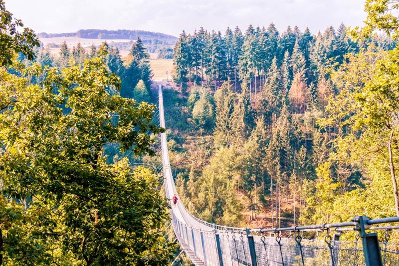 Geierlay Hangbrug hoogte