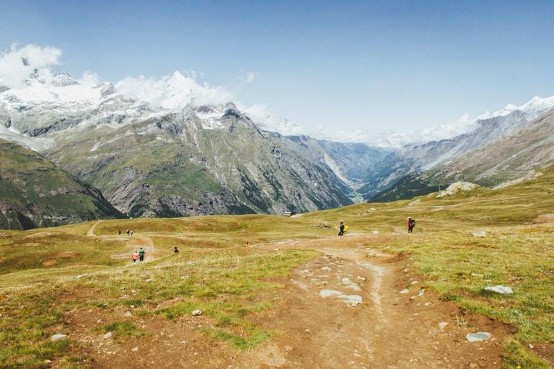 Gornergrat naar Zermatt hike