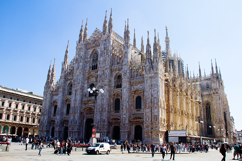 The magical Catherdral Duomo in Milan