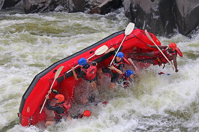 Crazy raften op de Zambezi Rivier