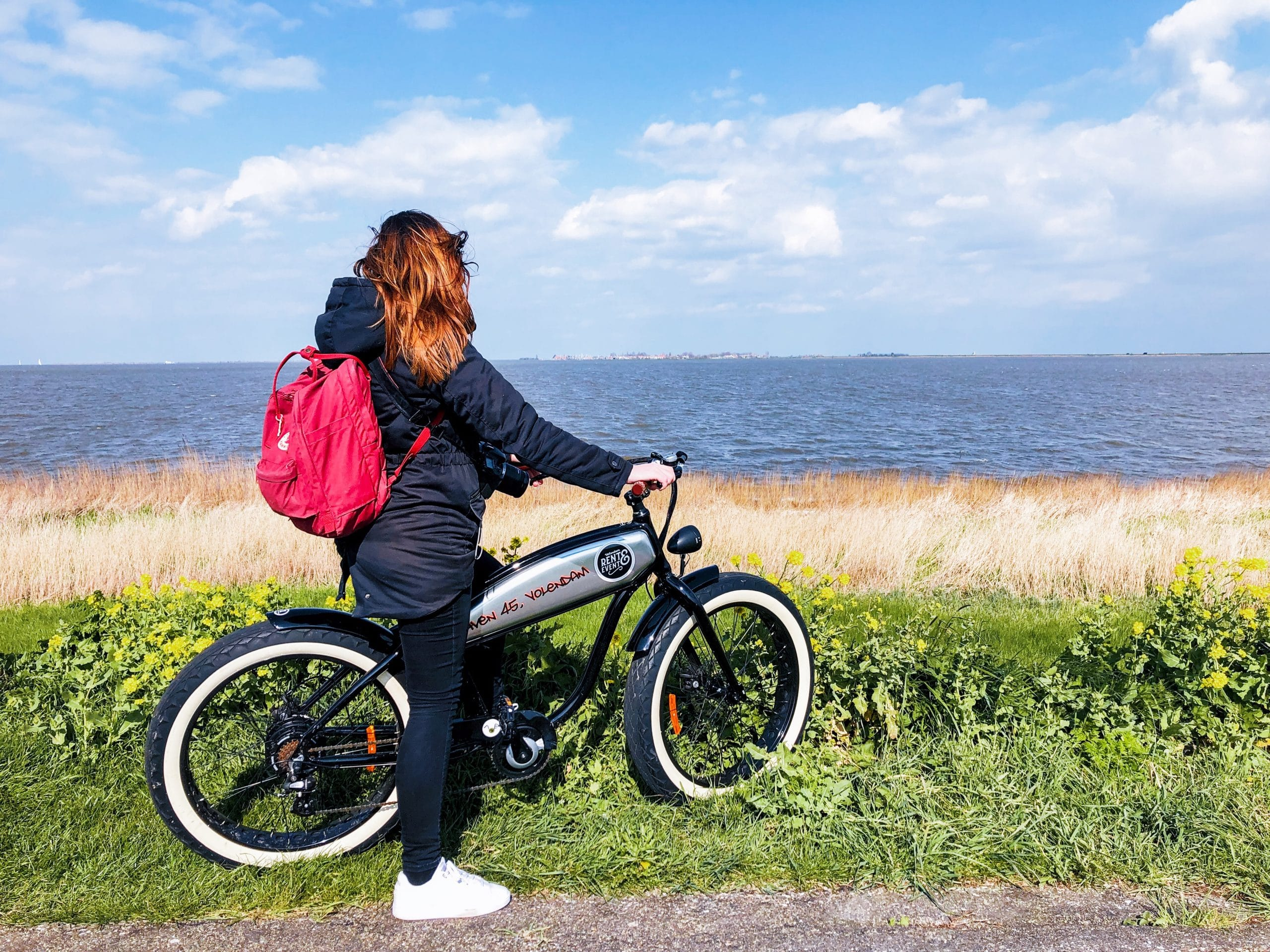 Op de E-fat bike naar Marken in Laag Holland
