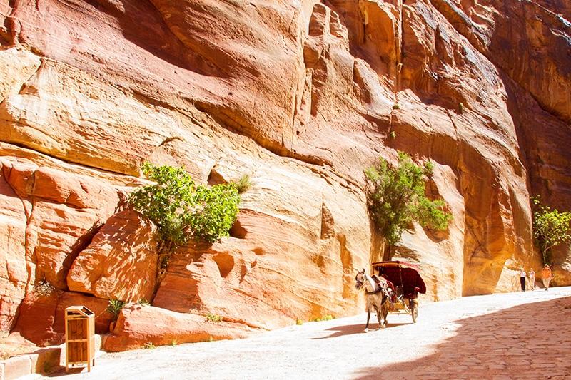 Bezoeken Petra Jordanië
