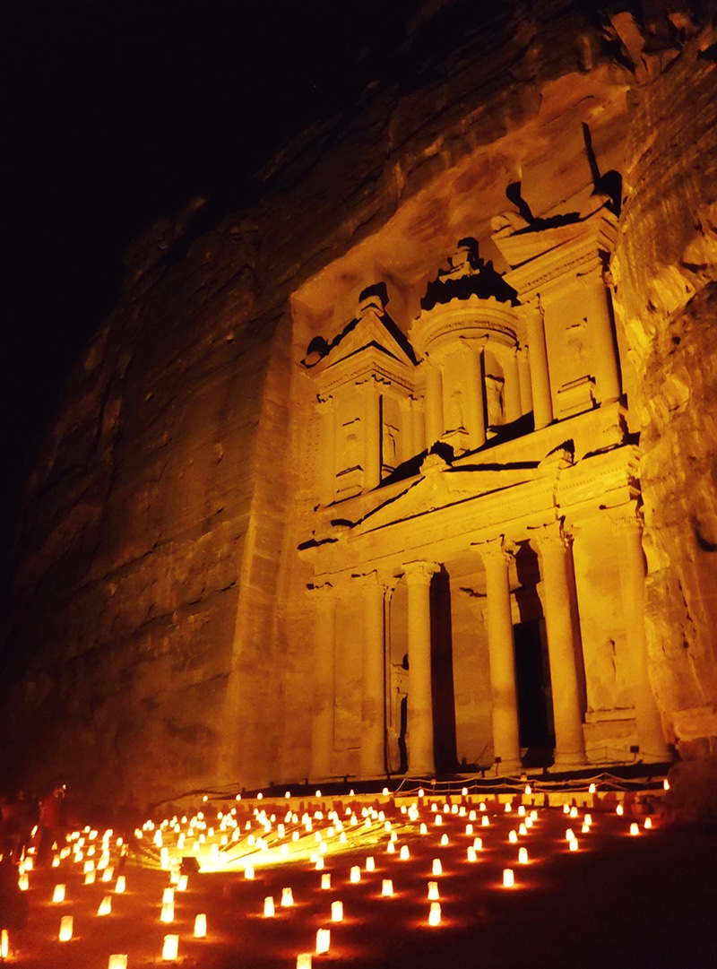Petra by night Jordanië