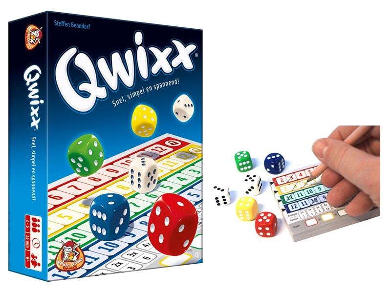 Reisspellen voor op reis, reisspel Qwixx
