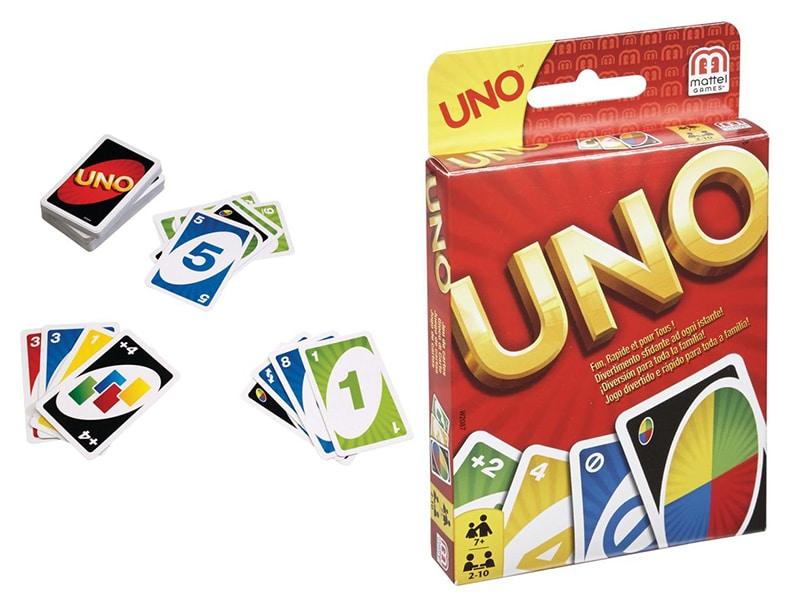 Reisspellen voor op reis, reisspel Uno