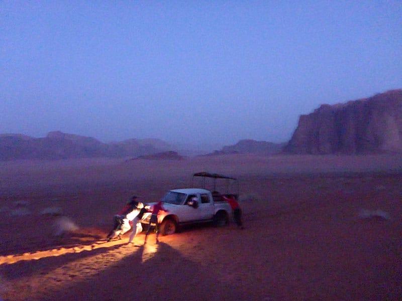 Verdwalen in de Wadi Rum woestijn