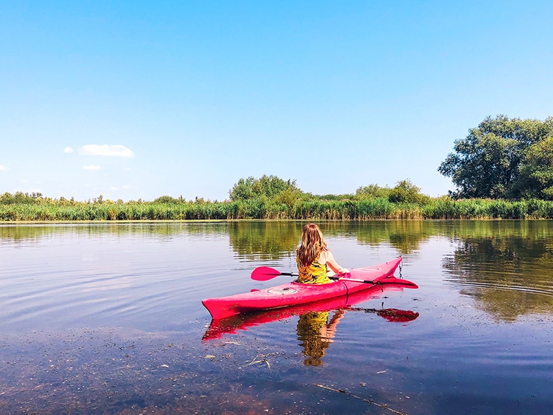 Watersportactiviteiten in Nederland kajakken in de biebsoch