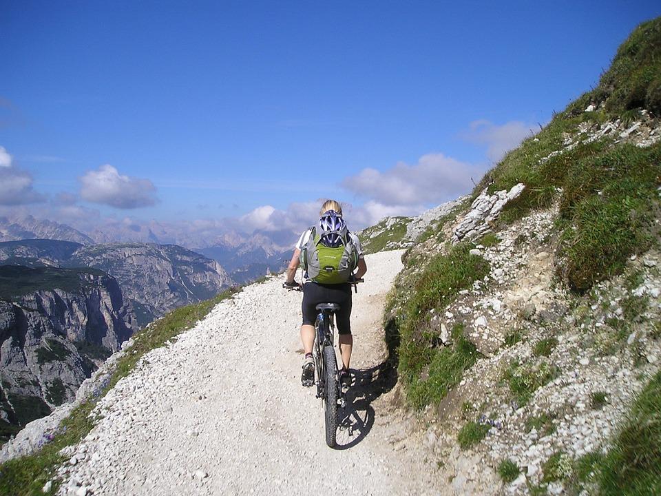 Op fietsvakantie door de bergen
